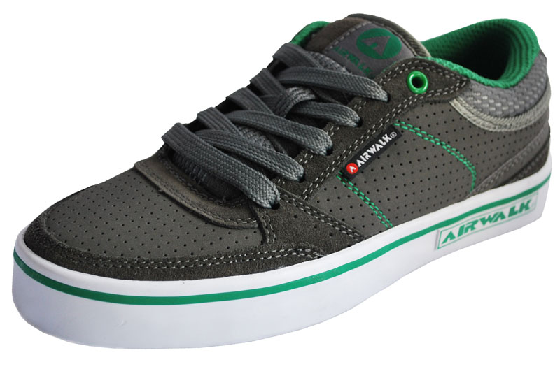 Airwalk - TIME PU - 257250 - Dark Grey - Green - Grün